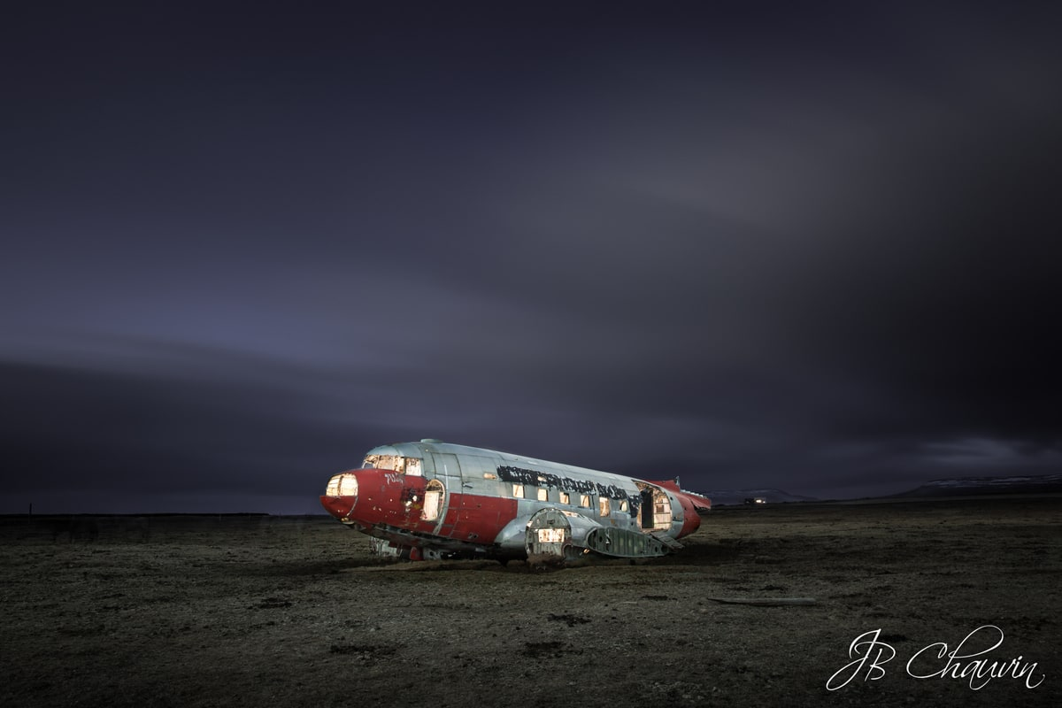 avion abandonné islande
