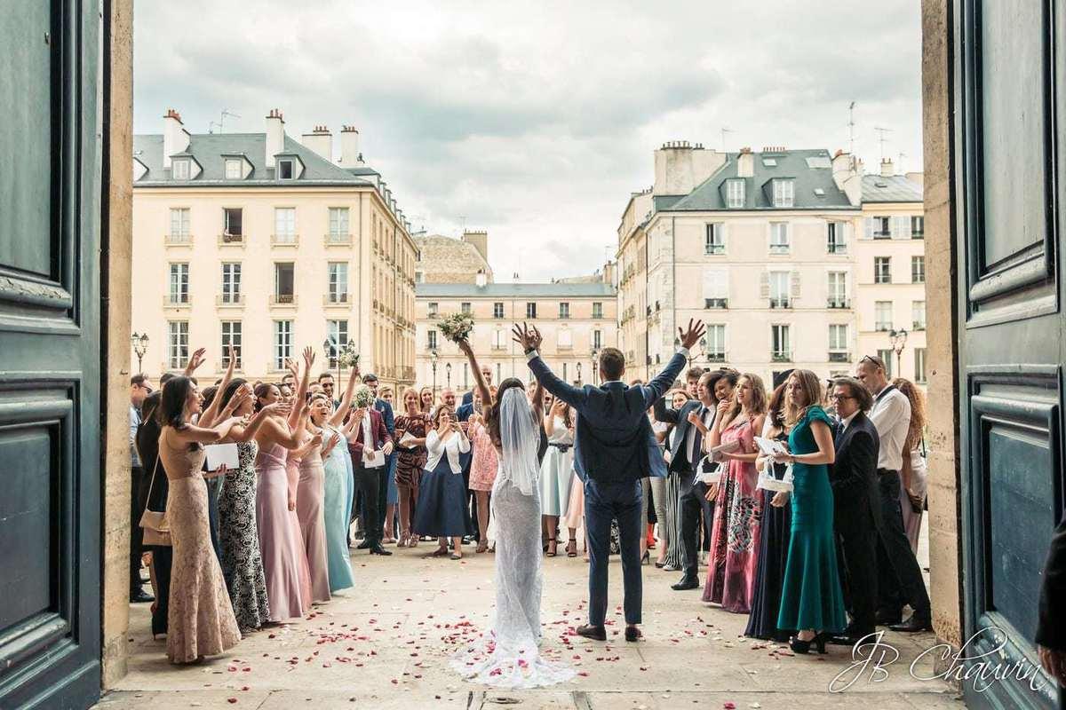 drone photo mariage